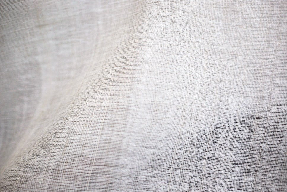 Natural linen unblended fabric a