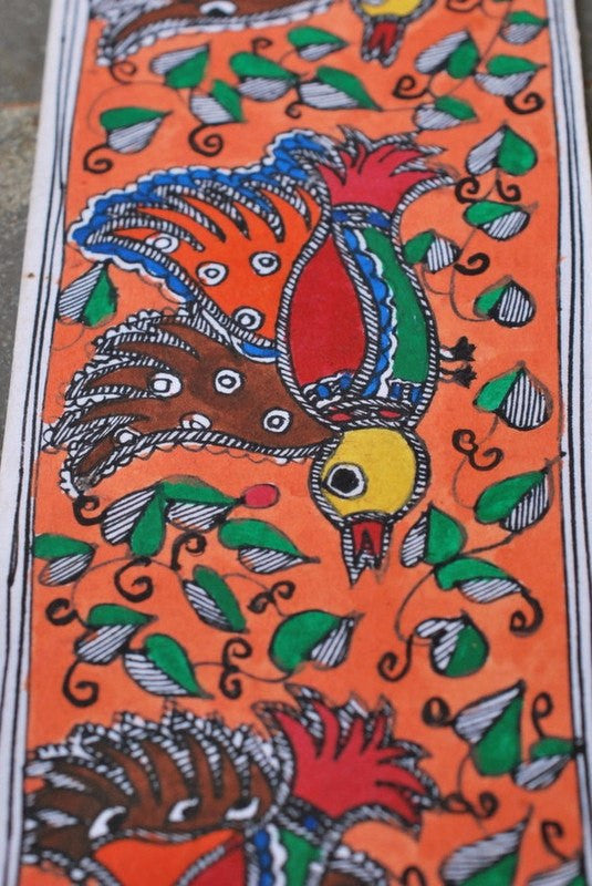 Mithila series madhubani large panel I folk art b