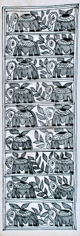 Mithila series madhubani panel V folk art a