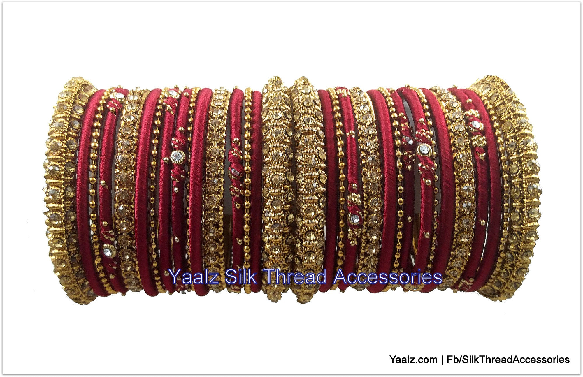 supreno thread bangles with stone bright multi and sylque colored metal work beautiful silk
