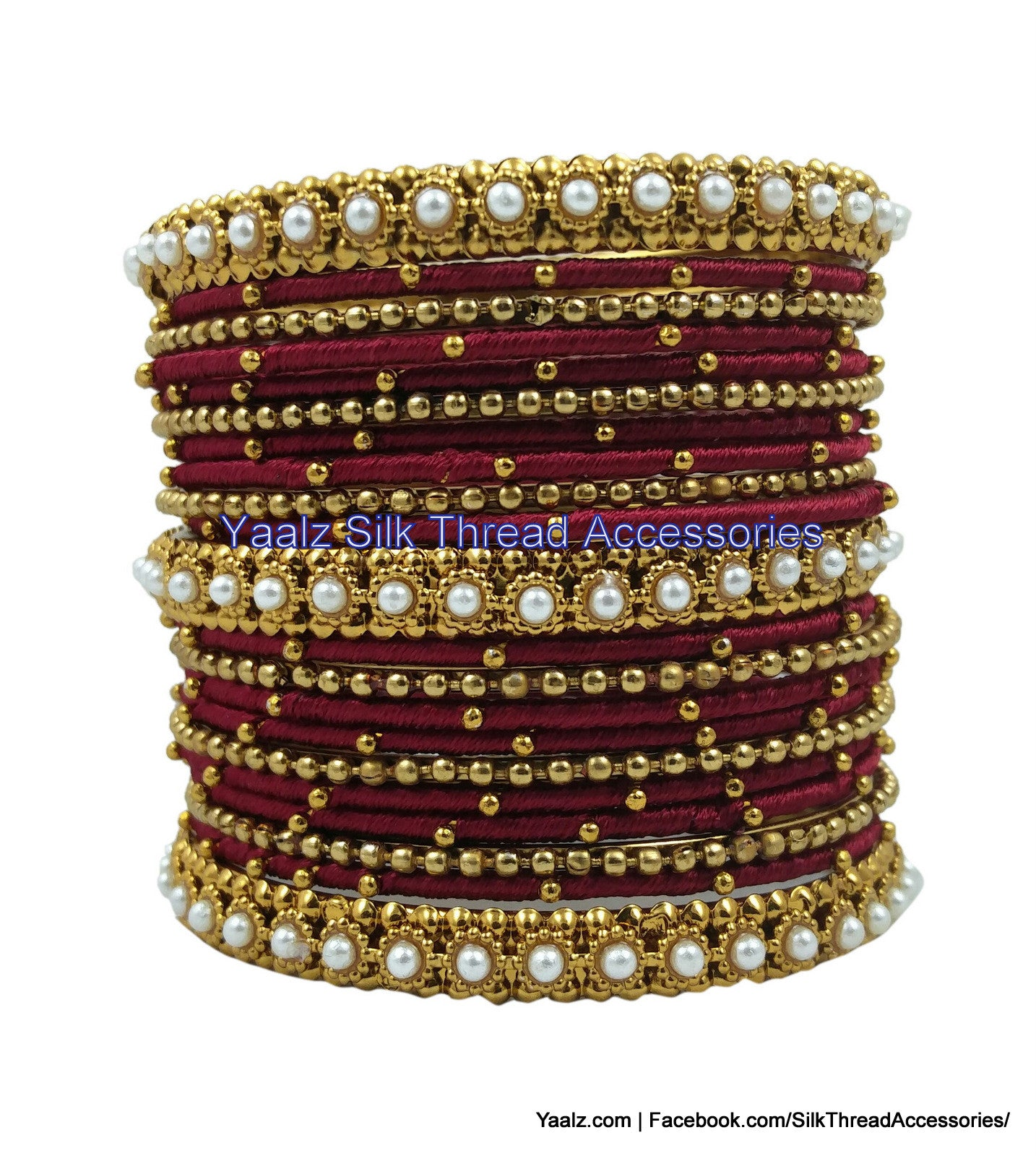 yaalz color in products bangle set bridal jumka heavy thread bangles metal silk partywear jewelry maroon earring