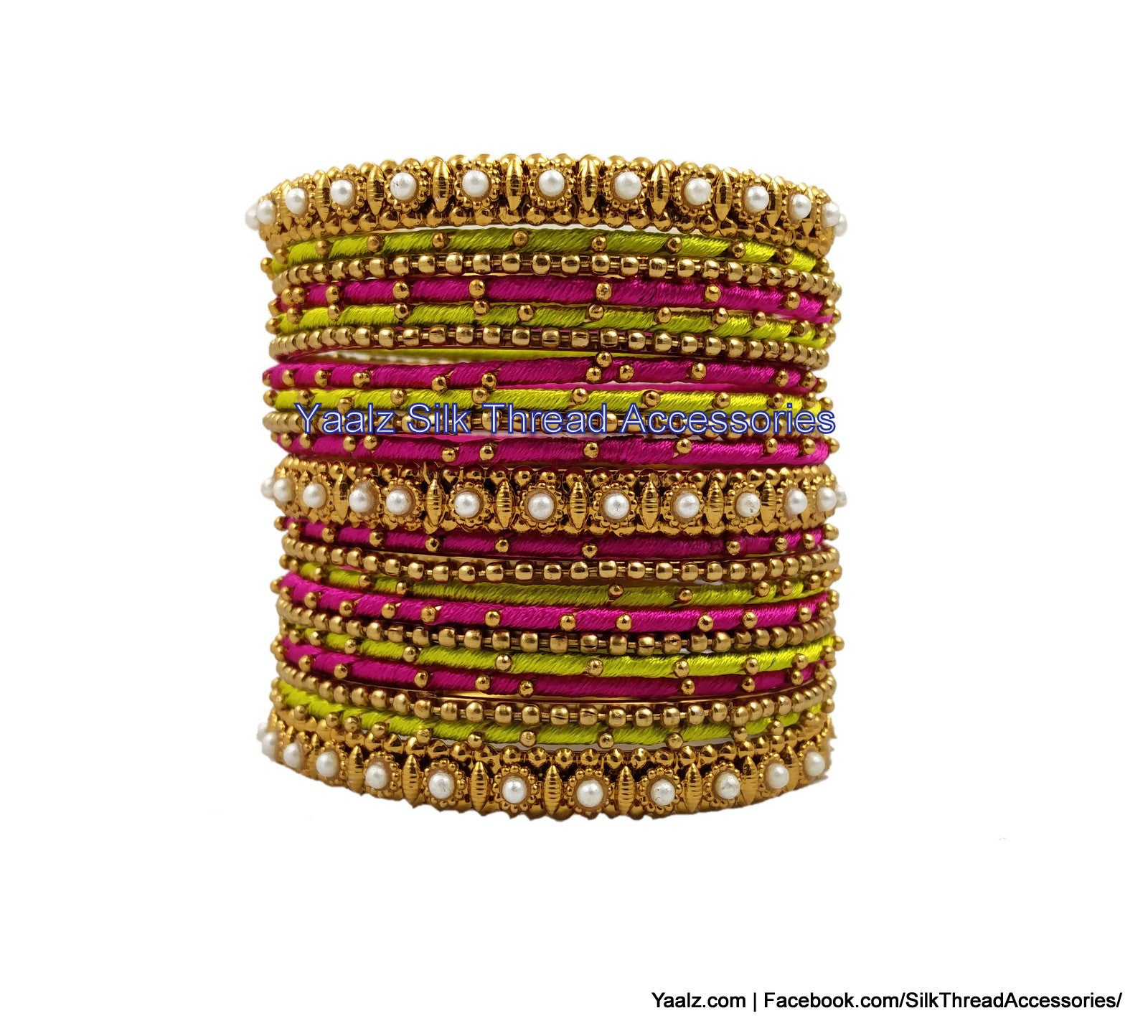 color bangle metal bangles maroon thread party wear products in jumka silk set yaalz earring img
