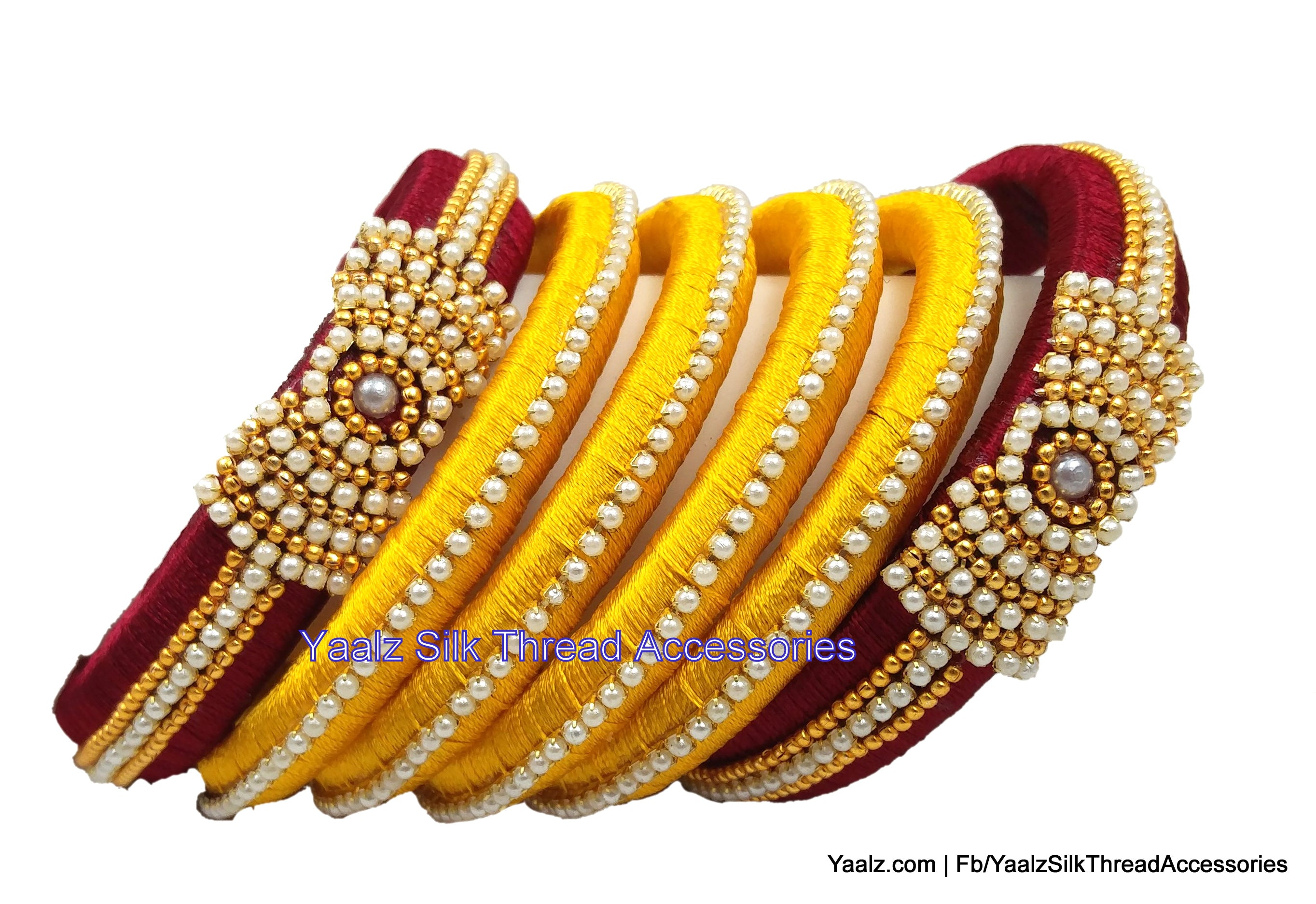 red bangle silk in products jewelry with jumka jumbo kada bangles earring stones thread kundan black touch yaalz