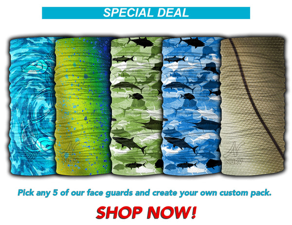 Pick Any 5 Fishing Face Guard Sun Mask