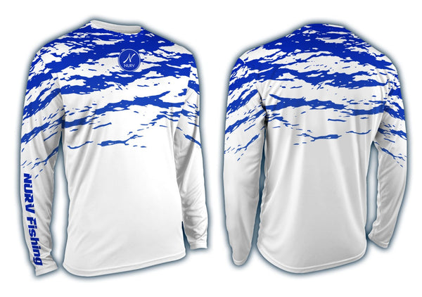 Splash Performance Long Sleeve Fishing Shirt Front and Back View