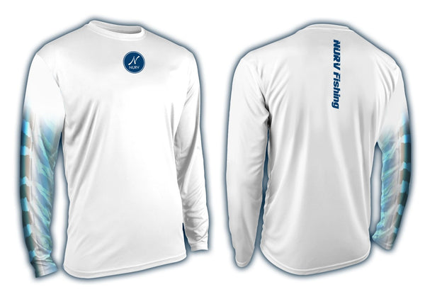 Wicked Wahoo Performance Long Sleeve Fishing Shirt front/back view