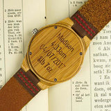 Personalised New Baby Wooden Watch