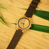 Engraved Photo Face Wooden Watch