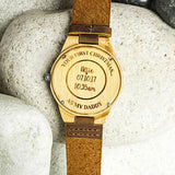 Personalised Daddy's/Mummy's First Christmas Wooden Watch
