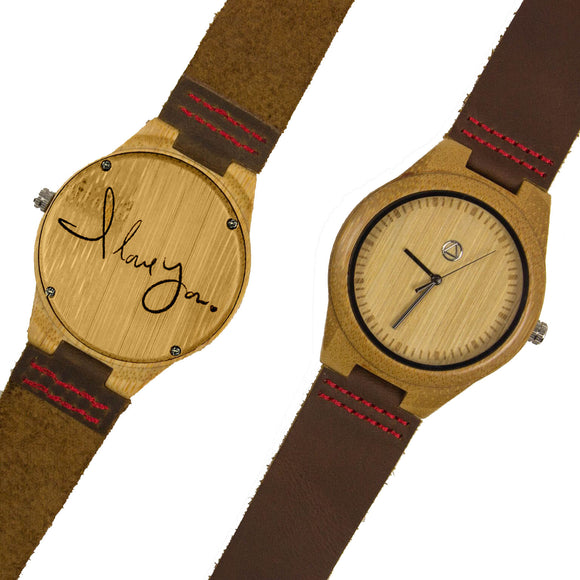 I Love You Wooden Watch