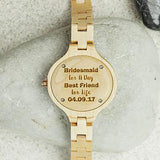Personalised Bridesmaid/Maid Of Honour Wooden Watch