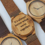 Personalised Text Wooden Watch