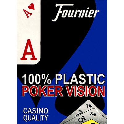 Fournier plastic Playing Cards Large Pips (red or blue) - Mystique Factory