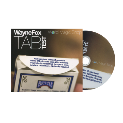 Tab (DVD and Gimmicks) by Wayne Fox - Mystique Factory