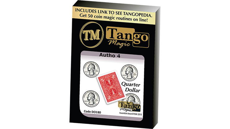 Autho 4 Quarter (Gimmicks and Online Instructions) (D0181) by Tango - Mystique Factory