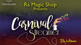 Carnival Streamer Halloween (Orange and Black) by Ra Magic - Mystique Factory