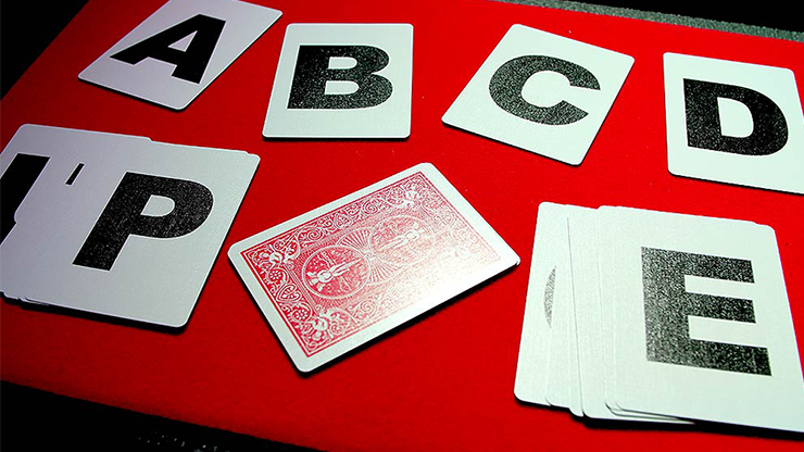 Alphabet Playing Cards Bicycle No Index by PrintByMagic - Mystique Factory