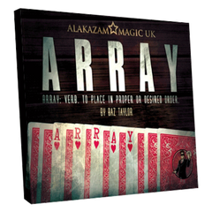Array (Gimmick and DVD) by Baz Taylor and Alakazam Magic - Mystique Factory Magic