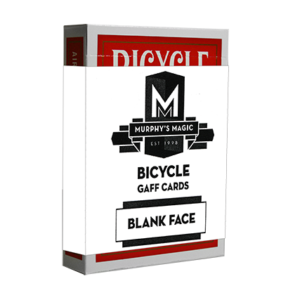 Blank Face Bicycle Cards (Red) - Mystique Factory
