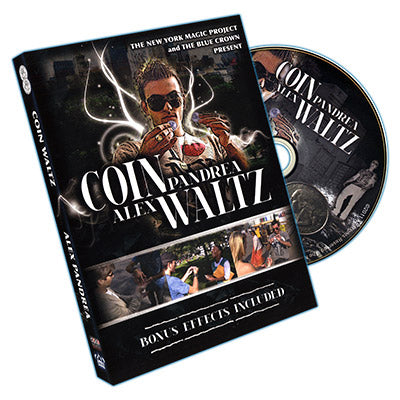Coin Waltz (DVD and Gimmick) by Alex Pandrea and The Blue Crown - Mystique Factory