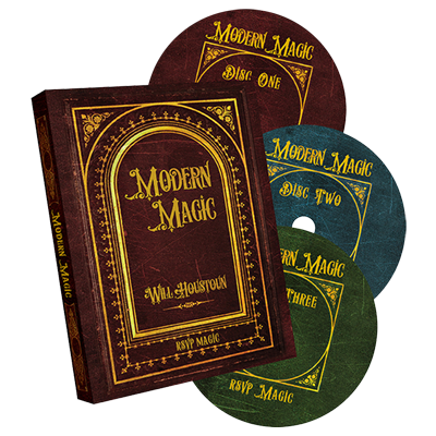Modern Magic (3 DVD set) by Will Houstoun and RSVP Magic