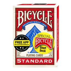Bicycle Short Deck (Red) by US Playing Card Co. - Mystique Factory