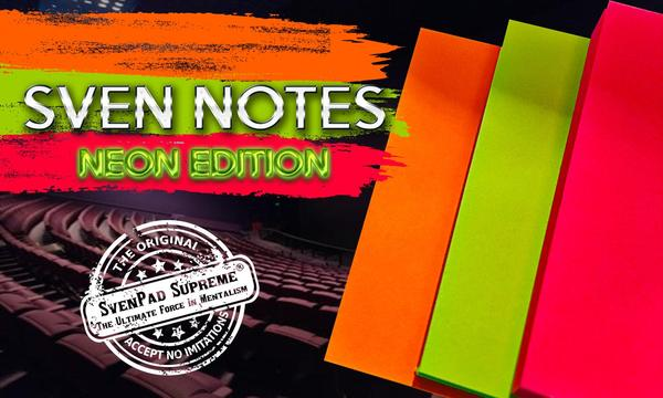 Sven Notes - NEON EDITION (3 Post-Its Style) by Brett Barry