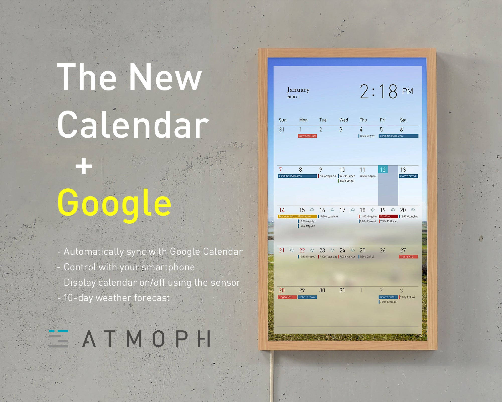 Google Calendar finally on Atmoph Window