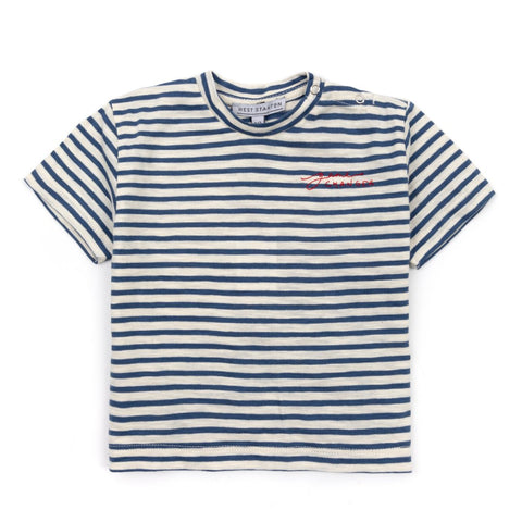 Game Changer Organic Embroidered Striped T-shirt Clothing West Stanton