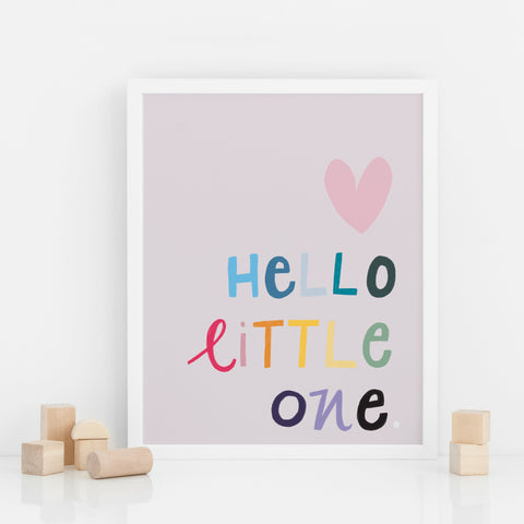 Hello Little One Print Poster West Stanton