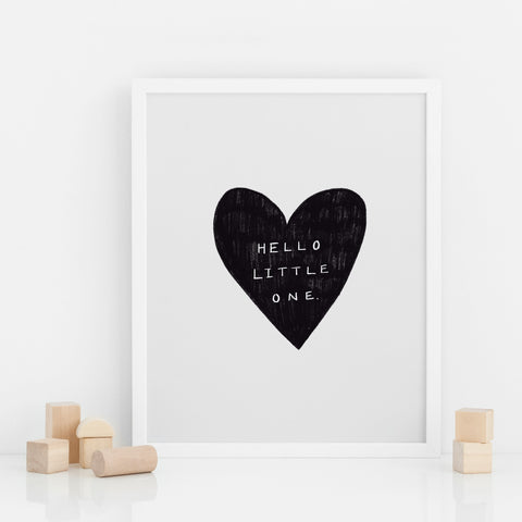 Little One Heart Print Poster West Stanton