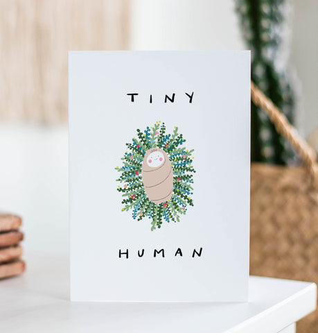 Tiny Human Wreath Card Cards West Stanton