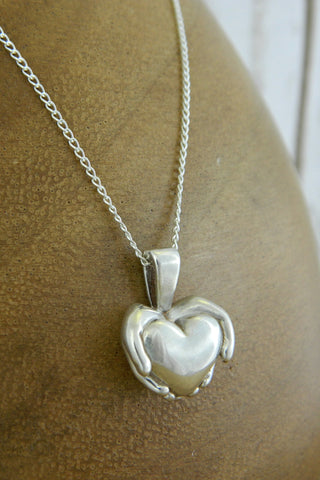 Medium Modern Heart Charm Necklace