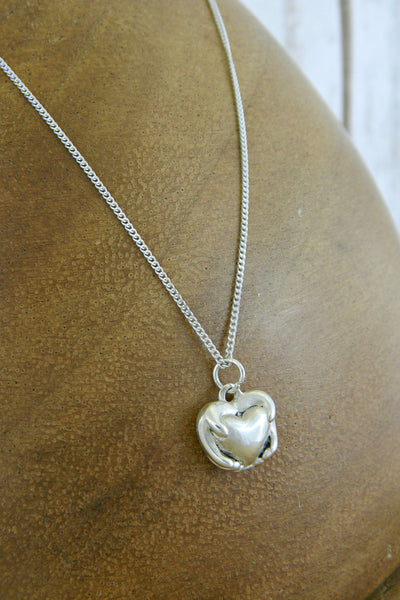 Small Traditional Heart Charm Necklace