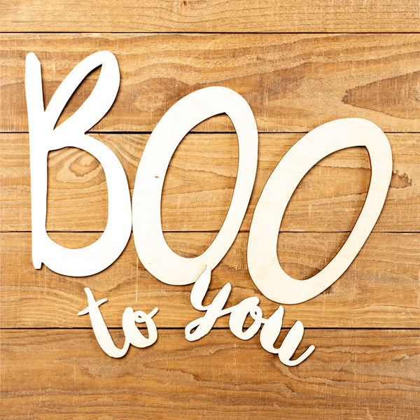 "Laser Cut ""Boo To You"" Word Pack"