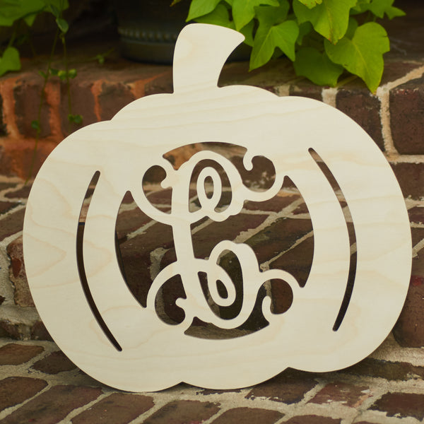 Carriage Pumpkin Vine Monogram - 2 Sizes