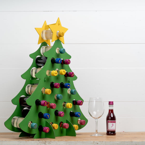 Mini-Wine Bottle Advent Tree Calendar