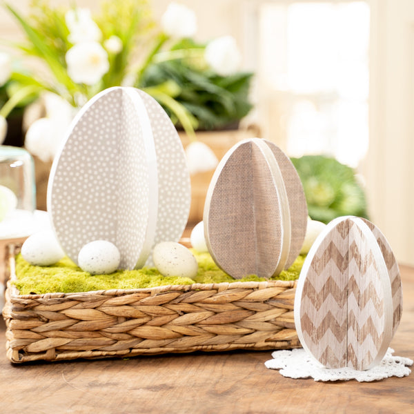 Slotted Eggs - Set of 3