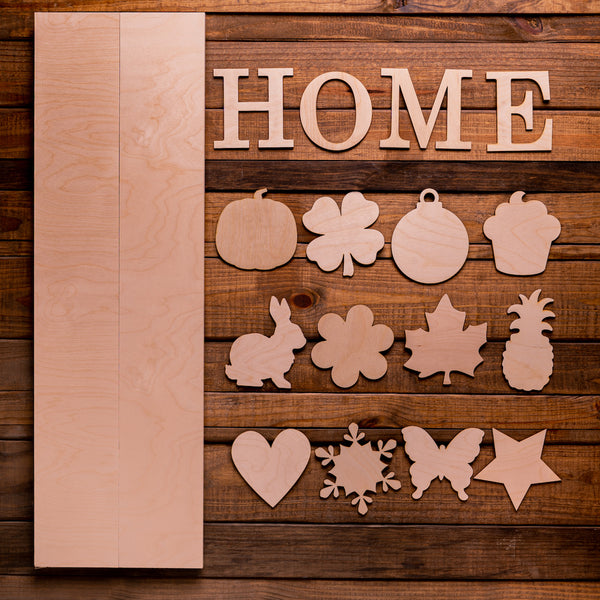 "36"" HOME sign with Interchangeable Shapes Kit"