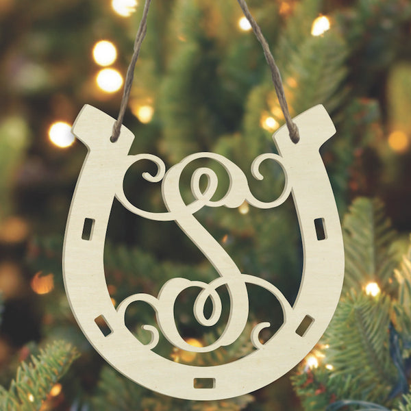 Laser Ornament - Horseshoe Vine