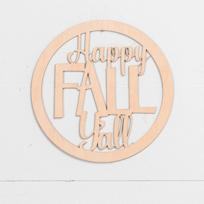 Laser Insert - Happy Fall Y'All