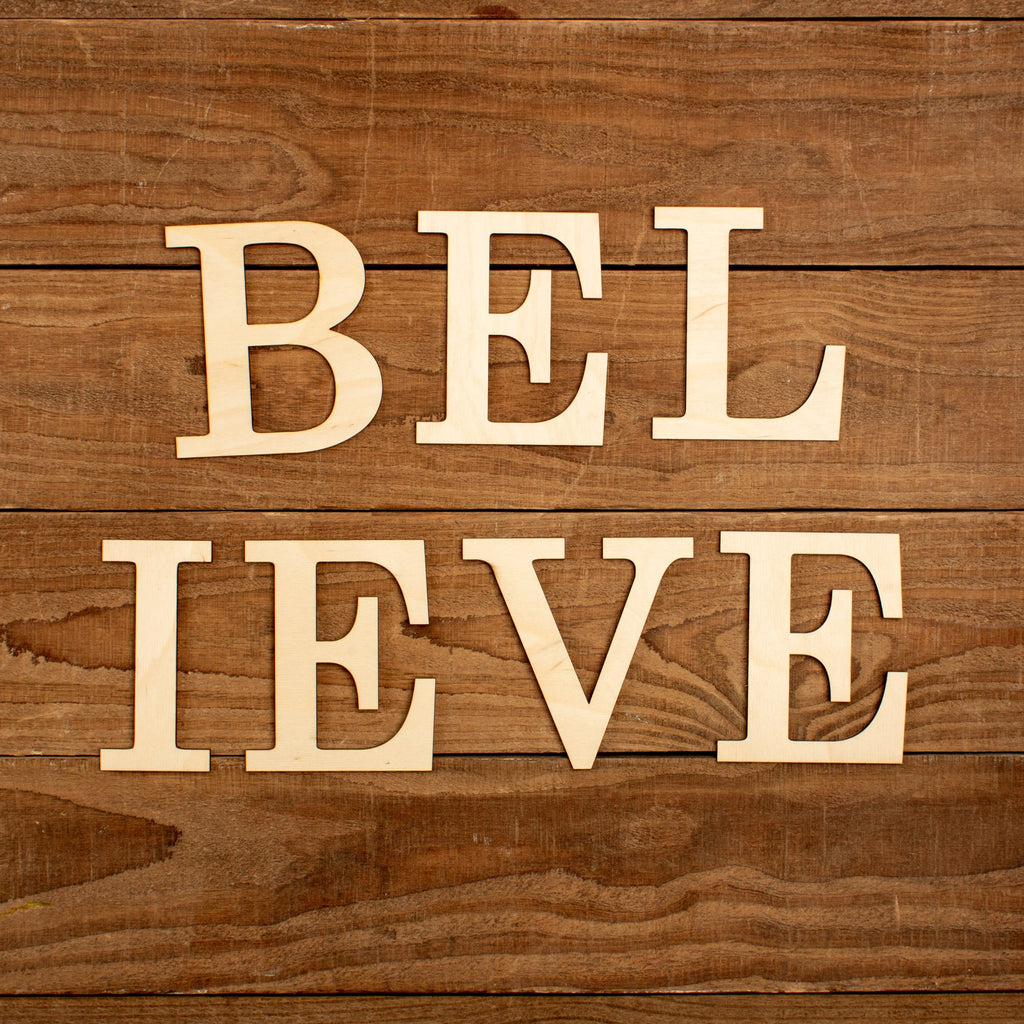 "Laser Cut ""Believe"" Word Pack"