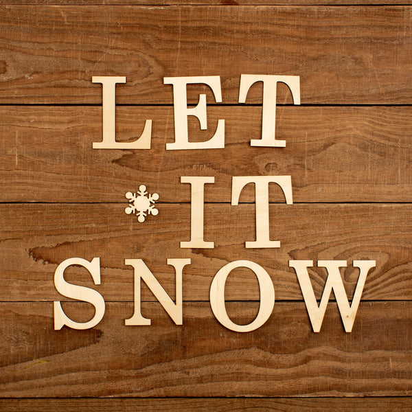 "Laser Cut ""Let It Snow"" Word Pack"