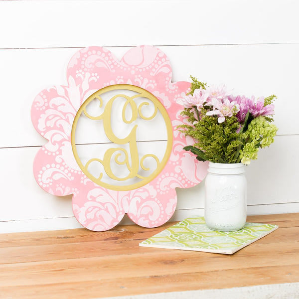 Layered Insert Monogram - Flower