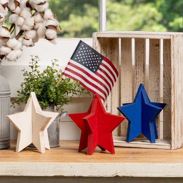 Slotted Stars - Set of 3