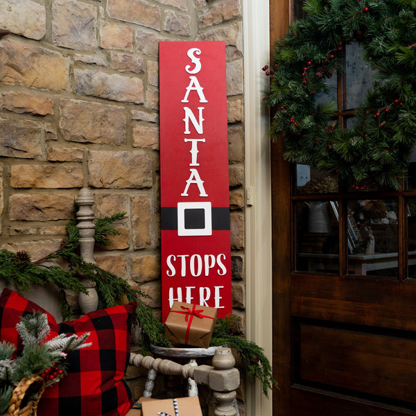 "Laser Cut ""Santa Stops Here"" Word Pack"