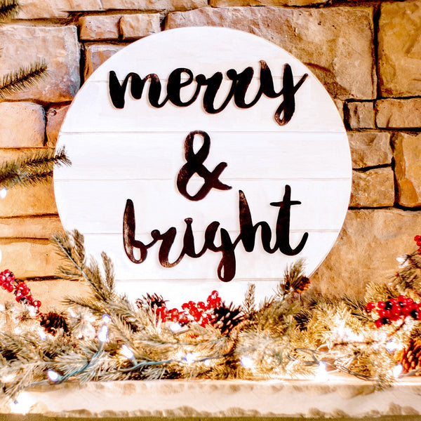 Grooved Christmas Canvas Signs- 4 Styles