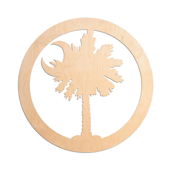 Laser Insert - Palmetto Tree and Moon