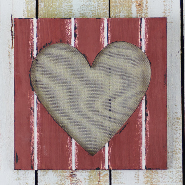 Routed Heart Canvas