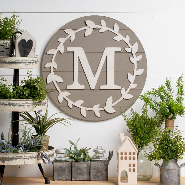 Personalized ShipLap Wreath Kit